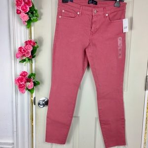 GAP Pants - GAP Denim Leggings Stretch Pink Brand New